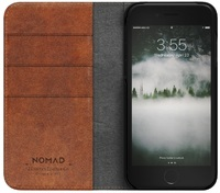 Nomad Horween Leather Folio Wallet Case for iPhone 7/8 (Rustic Brown)