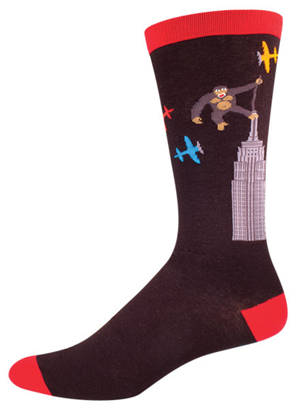 Socksmith: Men's Kong Crew Socks - Black