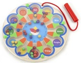 VIGA Wooden Toys - Magnetic Beat Trace Clock