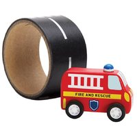 IS Gifts: Emergency Rescue - Vehicle & Reusable Road (Fire Engine)