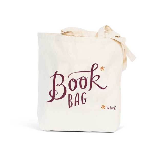 Book & Wine Tote Bag