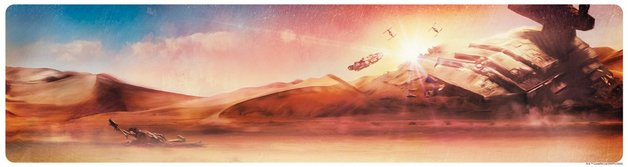 Star Wars: Dogfight at Sunset by Rich Davies - Lithograph Art Print