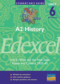 Edexcel History: A2 - Hitler and the Nazi States: Unit 6 by Geoff Stewart image