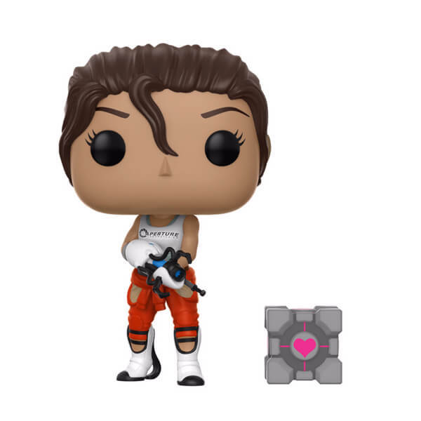 Portal - Chell (with Companion Cube) Pop! Vinyl Figure image