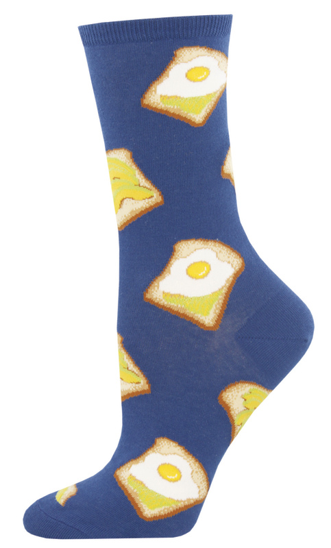 Socksmith: Women's Avocado Toast Crew Socks - Blue