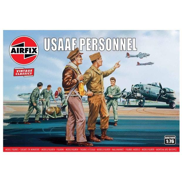 Airfix 1:76 WWII USAAF Personnel 1:76 Scale Model Kit