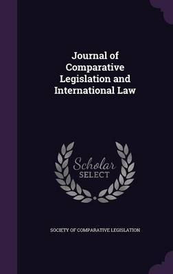 Journal of Comparative Legislation and International Law image