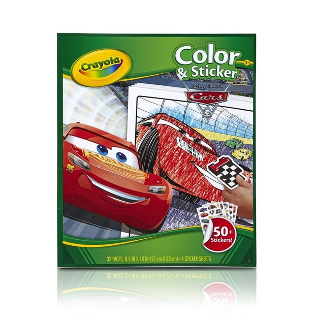 Crayola Colour & Sticker Pad - Cars 3