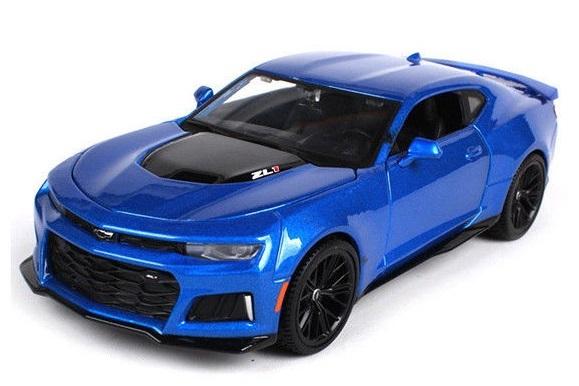 Maisto: 1:24 Die-Cast Vehicle - 2017 Chevrolet Camaro ZL1 (Blue)