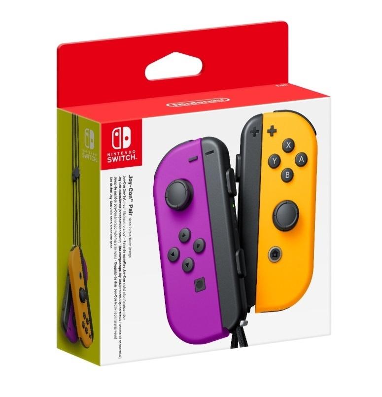 Nintendo Switch Joy-Con Neon Purple/ Neon Orange Controller Set for Switch image