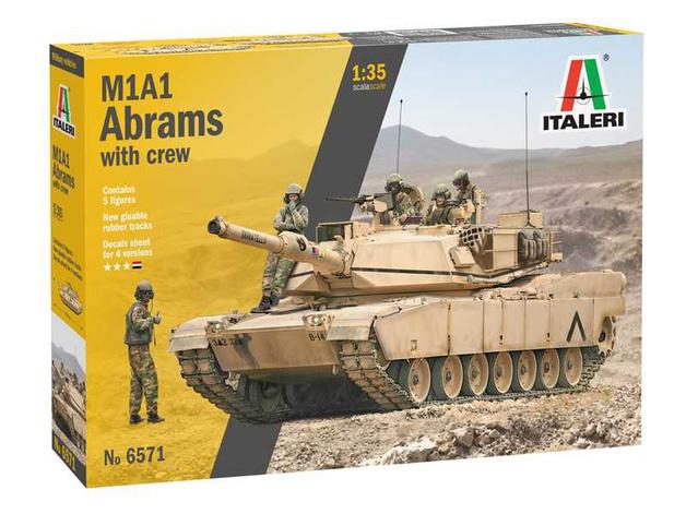Italeri: 1/35 M1A2 Abrams (with Crew) - Model Kit