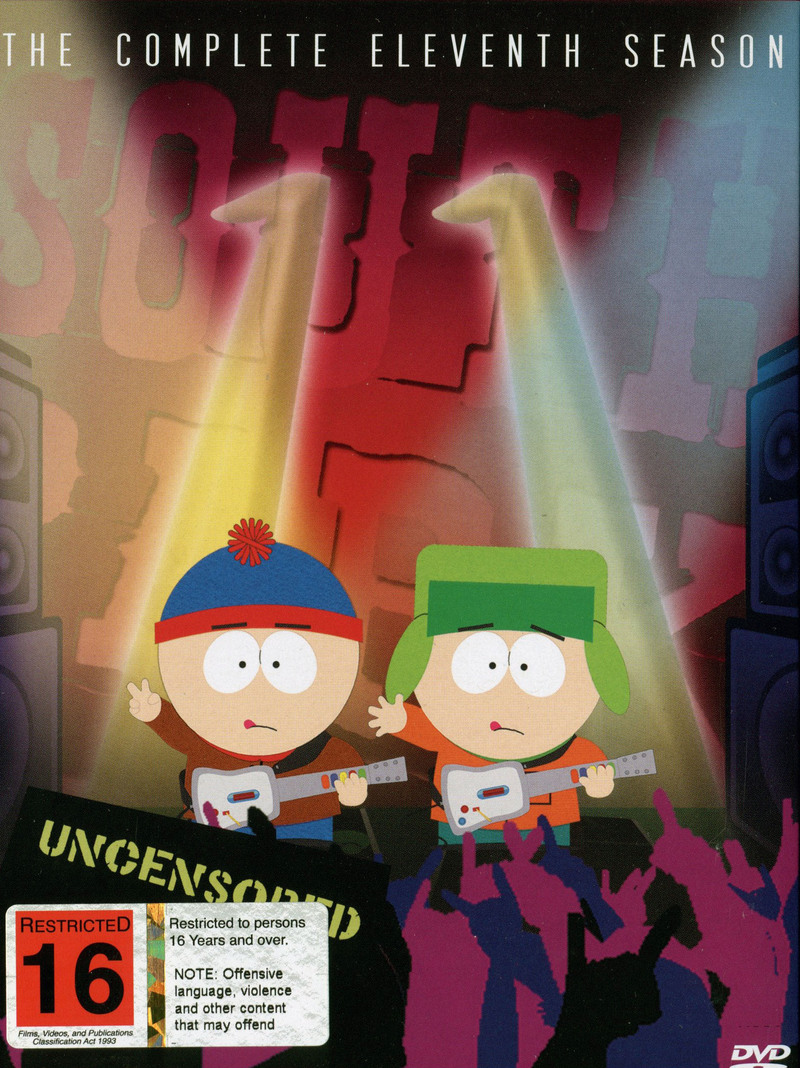 south park the complete 11th season uncensored 3 disc box set dvd on sale now at. Black Bedroom Furniture Sets. Home Design Ideas