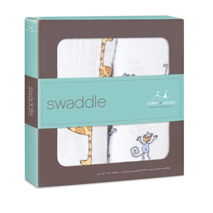 Aden+Anais Swaddle - Jungle Jam (2 Pack Swaddling Wraps)