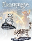 Frostgrave - Ice Toad & Snow Leopard