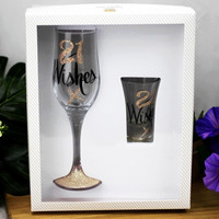 Wishes: 21 Wishes Rose Gold Shot Glass image