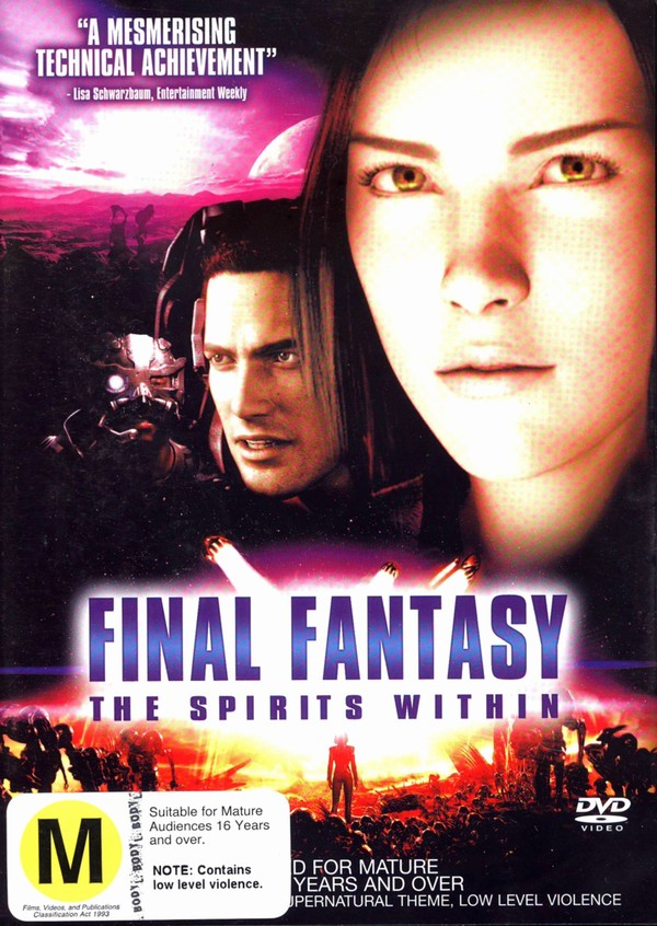 Final Fantasy - The Spirits Within on DVD image