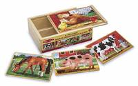 Melissa & Doug: Wooden Farm Jigsaw Puzzles in a Box image