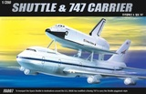 Academy Shuttle and 747 Carrier 1/288 Model Kit
