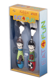 Eat4Fun Kiddos Cutlery Set (Chris & Tony)