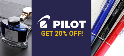 20% off all Pilot Writing