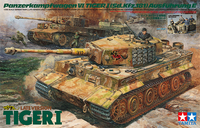 Tamiya 1/35 German Tiger I Late Version - w/Ace Commander & Crew Set Scale Model Kit