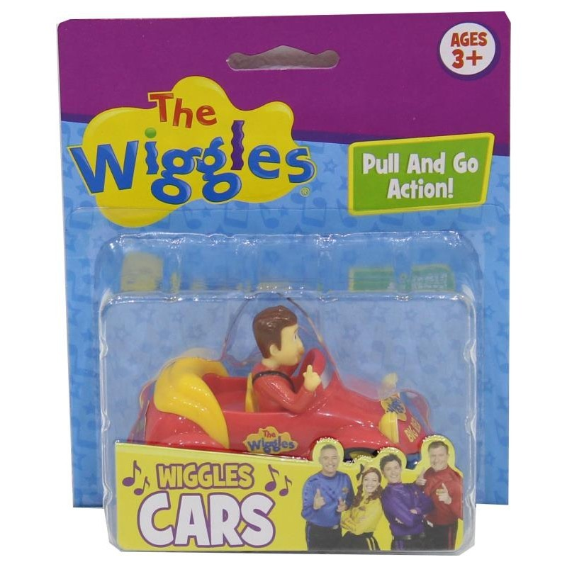 "Wiggles: 3"" Pull Back & Go Car - Simon (RED) image"
