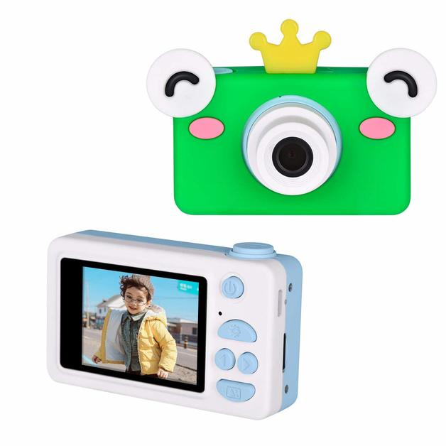Kids Digital Cameras 2.0 inch IPS Screen 8MP Video - Green Frog Prince