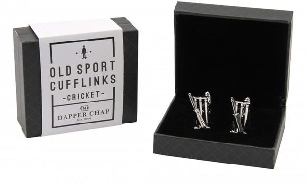 Dapper Chap Cufflinks - Cricket