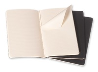 Moleskine: Cahier Large Journal Ruled - Black (Pack of 3)