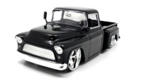 Jada: 1/24 Btk 1955 Chevy Stepside – Diecast Model (Black)