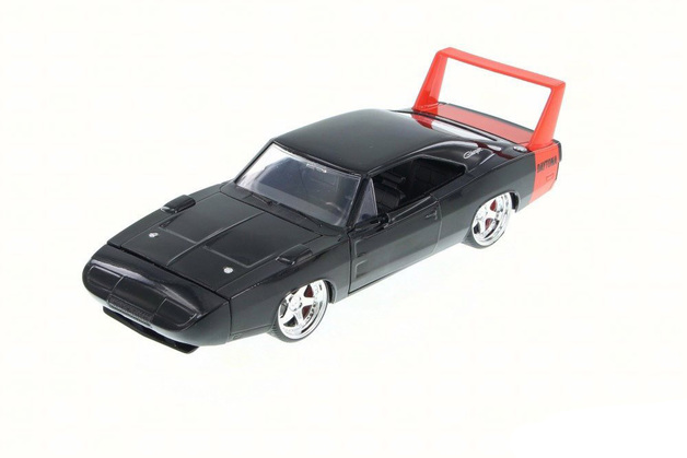 Jada: 1/24 Dodge Charger Ht Diecast Model (Black & Red)