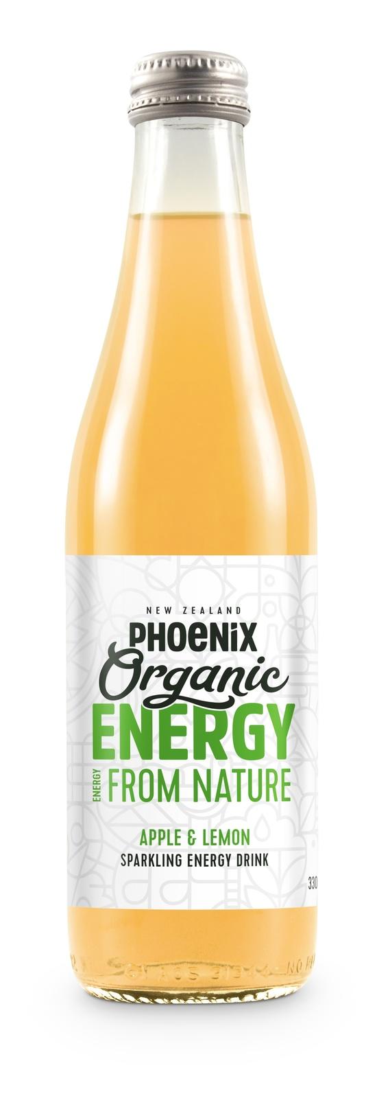 Phoenix Organic Energy - Apple & Lemon 330ml (15 Pack) image