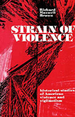 Strain of Violence by Richard Maxwell Brown image