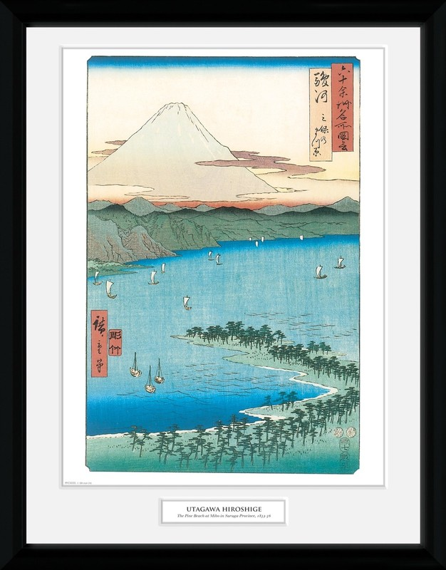 Hiroshige: The Pine Beach At Miho - Collector Print (41x30.5cm)