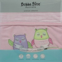 Bubba Blue: Velour Bassinet Blanket - Pink Owl image
