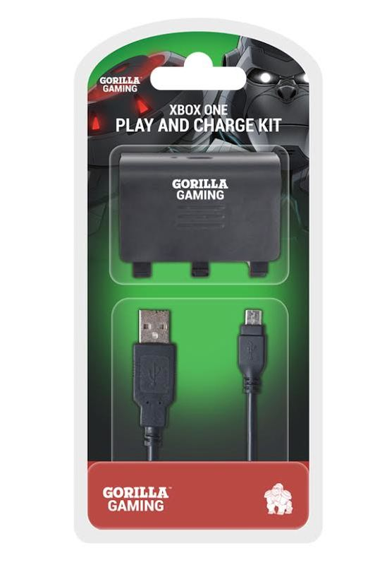 Gorilla Gaming Xbox One Play and Charge Kit for Xbox One