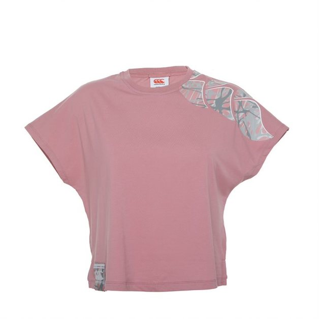 Canterbury: Womens Camo Logo Print Tee - Foxglove (Size 14)