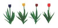 JTT: HO Scale Scenic Tulips - 36 Pack
