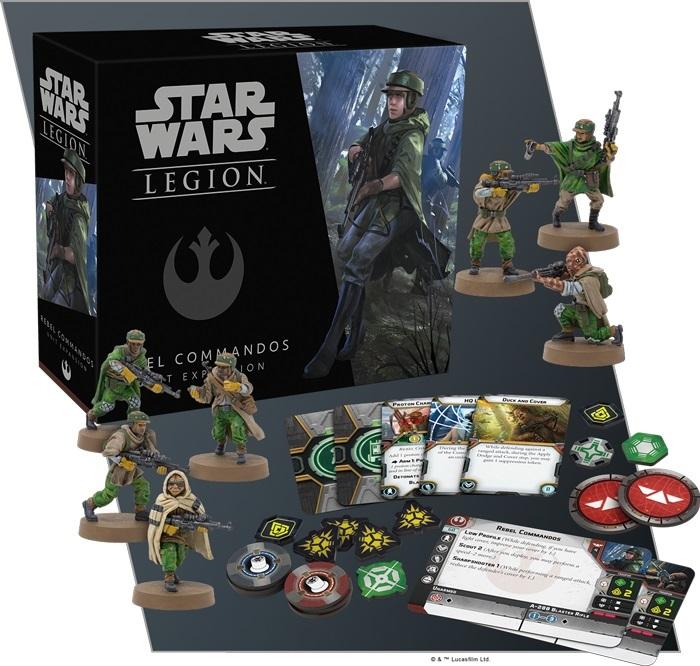 Star Wars Legion: Rebel Commandos Unit Expansion image