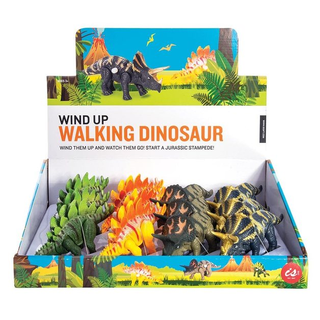 IS Gifts - Wind Up Walking Dinosaur (Assorted Designs)