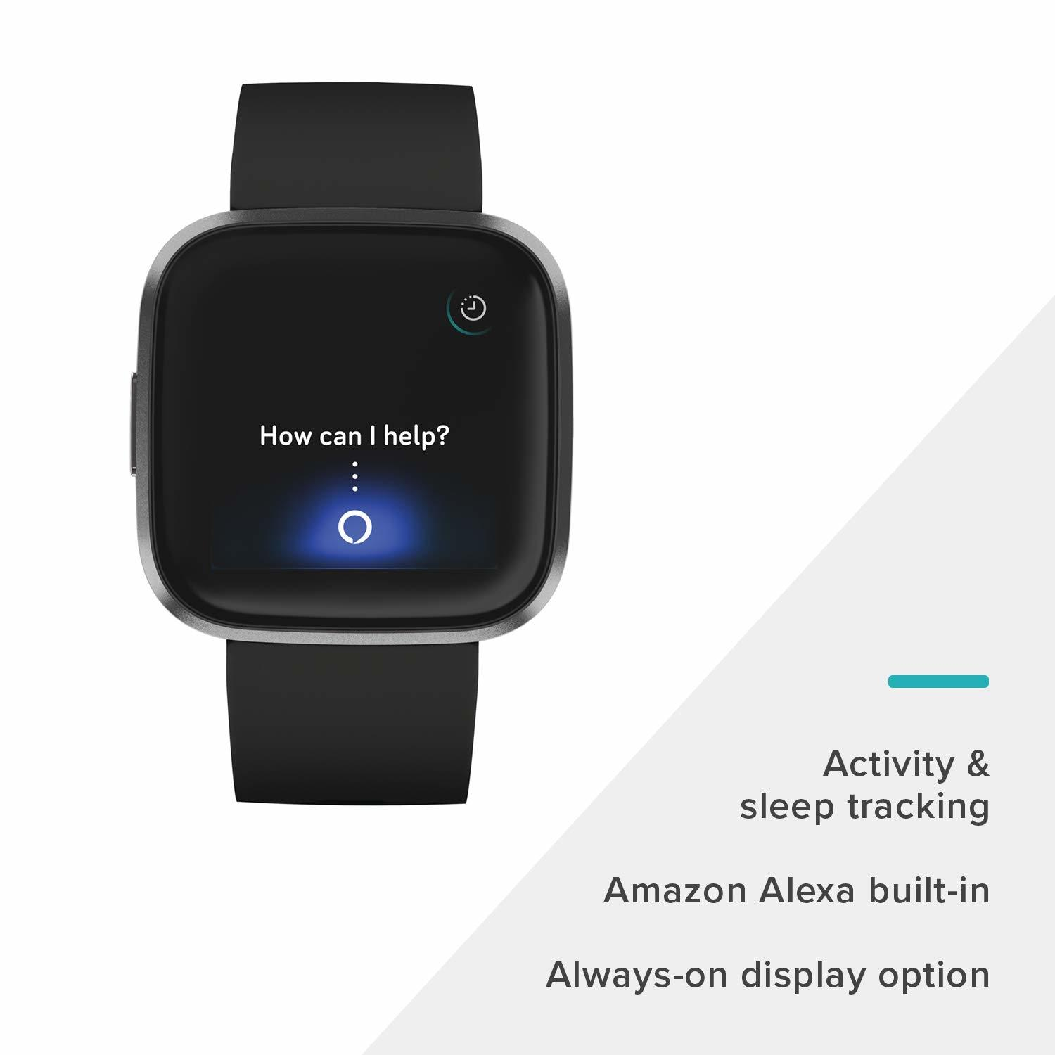 Fitbit Versa 2 Health & Fitness Smartwatch - Black/Carbon image