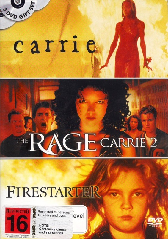 Carrie / The Rage: Carrie 2 / Firestarter (3 Disc Set) on DVD