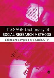 The SAGE Dictionary of Social Research Methods by Victor R. Jupp image
