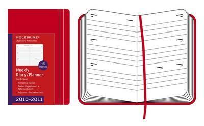 Moleskine Hard Pocket Weekly Horizontal Diary 18 Month: 2011 by Moleskine image