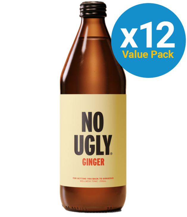 No Ugly: Wellness Tonic - Ginger 250ml (12 Pack)