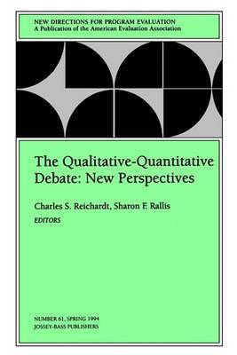 The Qualitative-Quantitative Debate: New Perspectives by Charles S. Reichardt