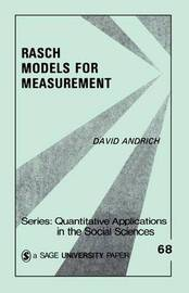 Rasch Models for Measurement by David Andrich image