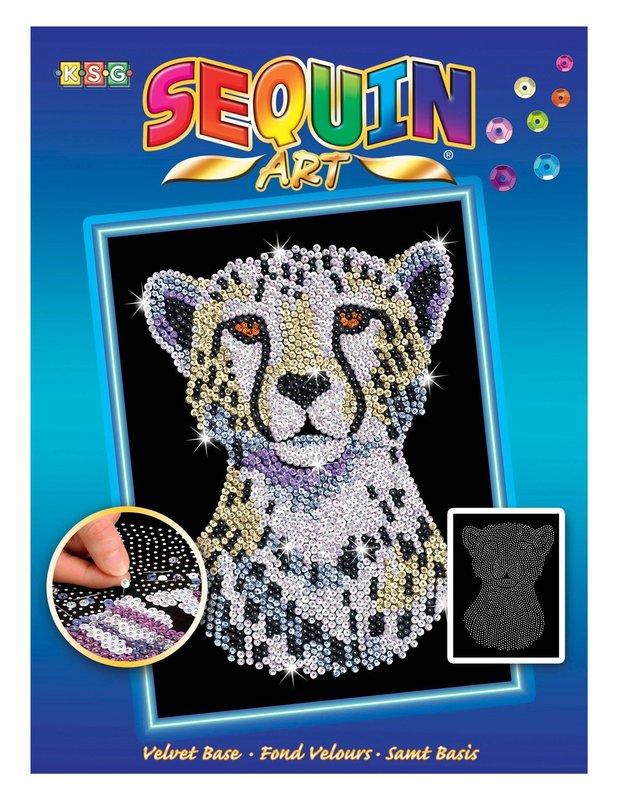 Sequin Art - Snow Cheetah
