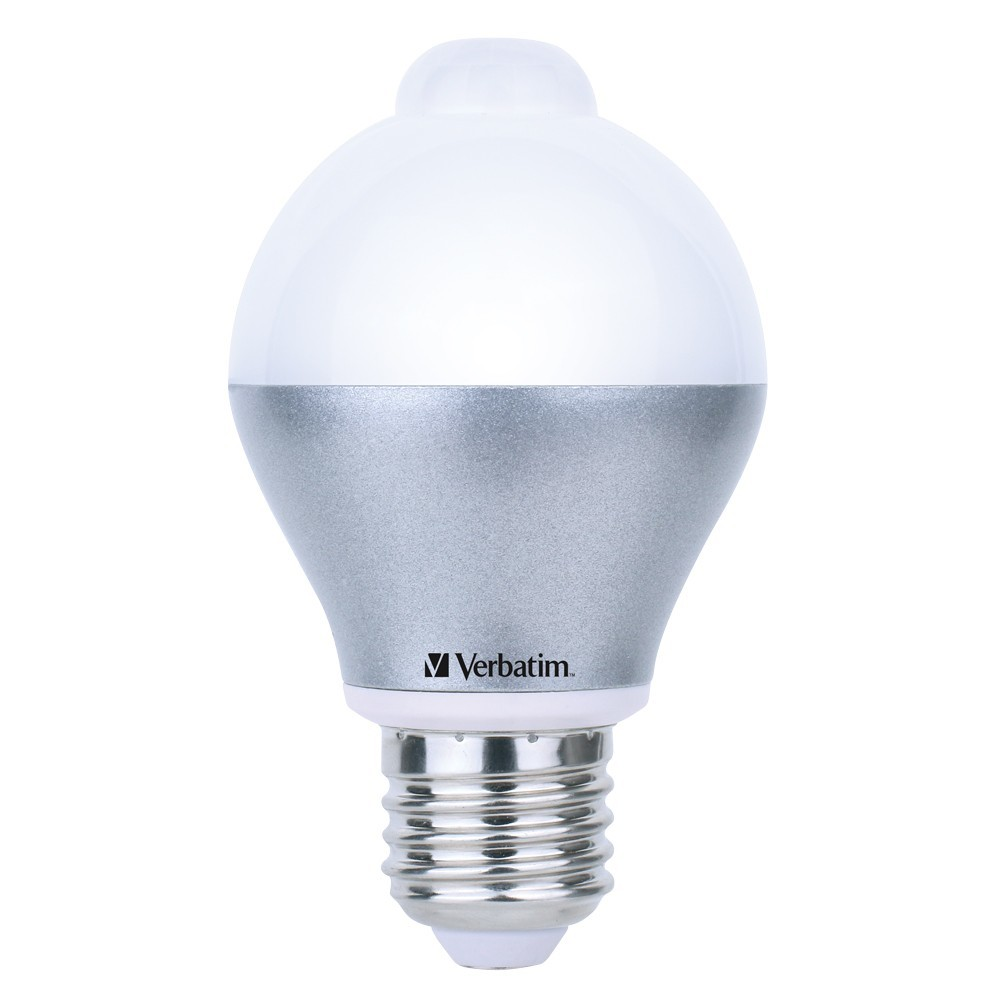 Verbatim LED Classic A 6W 480lm 3000K Warm White E27 - Built-In Sensor image
