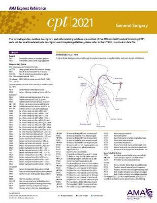 CPT 2021 Express Reference Coding Card: General Surgery by American Medical Association